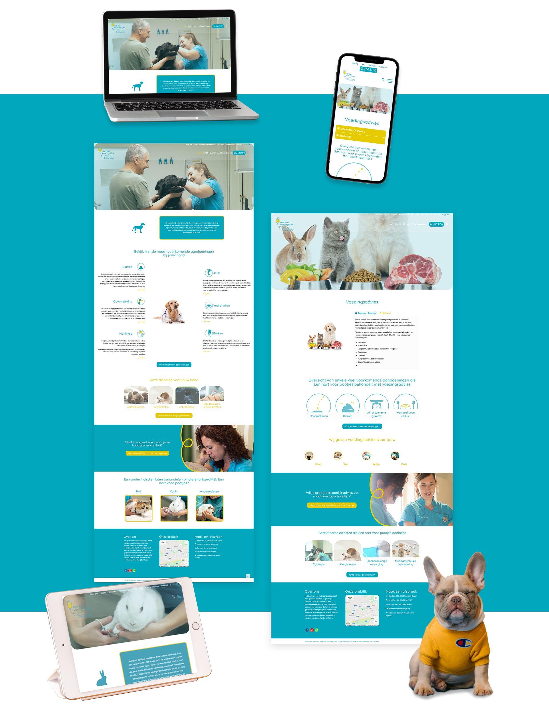 We are connected - realisatie - Een website voor Een hart voor pootjes