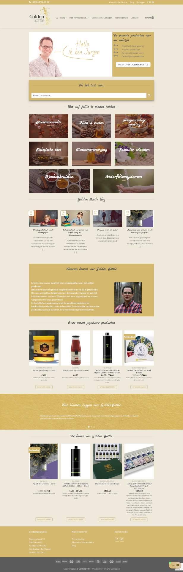 Webshop Golden bottle